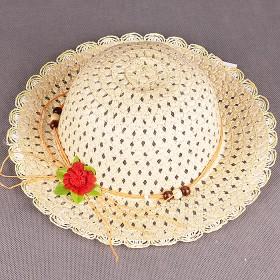 """Шляпа детская текстиль    (D=28см)    """"  Лапушка""""   809-3,     размер 56-58;    возраст 12 лет,    молочный"""