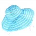 Шляпа женская текстиль    (D=45)    Беатрис-бант,    424-6 голубой