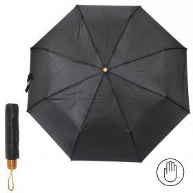 Зонт муж RST-3727B,    R=52см,    механика;    8 спиц-сталь;    3слож;    полиэстер,    черный
