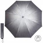 Зонт женский RST-381,    R=53см,    механика;    8 спиц-сталь;    3слож;    полиэстер,    серый