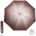 Зонт женский RST-381,    R=53см,    механика;    8 спиц-сталь;    3слож;    полиэстер,    коричневый