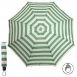 Зонт женский RST-923,    R=53см,    механика;    8 спиц-сталь;    3слож;    полиэстер,    молочный/зеленый    (полоска)