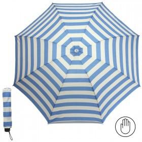 Зонт женский RST-923,    R=53см,    механика;    8 спиц-сталь;    3слож;    полиэстер,    молочный/голубой    (полоска)