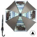 Зонт детский RST-072-3D,    R=48см,    полуавт;    8спиц-сталь;    трость;    полиэтилен,    черный    (Котята)