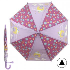 Зонт детский RST-086,    R=48см,    полуавт;    8спиц-сталь;    трость;    полиэстер,    фуксия/сиреневый    (Русалочка)