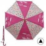 Зонт детский RST-086,    R=48см,    полуавт;    8спиц-сталь;    трость;    полиэстер,    розовый/бежевый    (Русалочка)